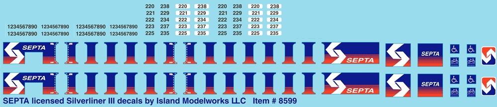 8602 SEPTA Broad Street shield by Island Modelworks  decal